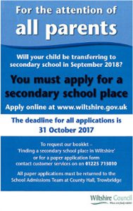 Secondary School Application 2018